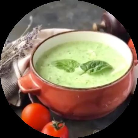 Шпинатно-сырный суп
