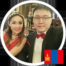 Энхбаатар Баярцэцэг и Цагаан Монгонтулга Тумэнбаяр